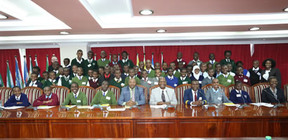 BRIGHT YOUNG MINDS VISIT THE COUNCIL