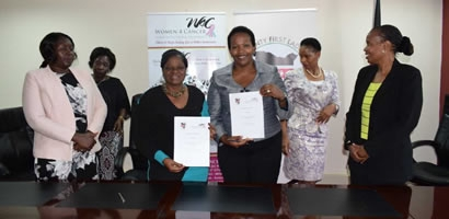 COUNTY FIRST LADIES CEMENT PARTNERSHIPS BETWEEN AMREF KENYA AND WOMEN4 CANCER