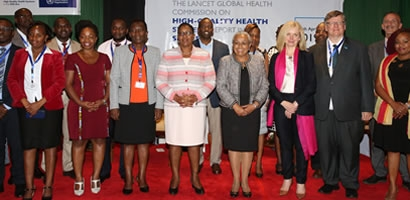 LAUNCH OF THE LANCET GLOBAL HEALTH COMMISSION HIGH QUALITY HEALTH SYSTEMS REPORT IN THE SUSTAINABLE DEVELOPMENT GOALS ERA.
