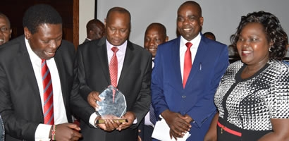 Busia County scoops top inaugural Performance for Results Trophy.