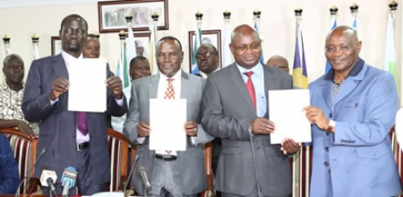 COUNCIL OF GOVERNORS, MINISTRY OF HEALTH AND KENYA UNION OF NURSES SIGN AN AGREEMENT TO END NURSES STRIKE